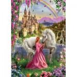 Puzzle  Educa-17985 Princess and unicorn