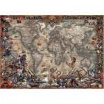 Puzzle  Educa-18008 Antique World Map