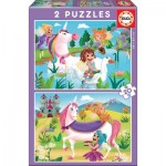 Puzzle  Educa-18064 Unicorns