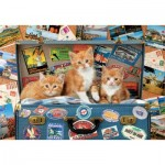 Puzzle  Educa-18065 Kitten Traveling