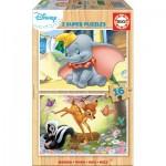 Educa-18079 Wooden Puzzle - Disney - Dumbo & Bambi