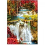 Puzzle  Educa-18461 Waterfall in deep Forest