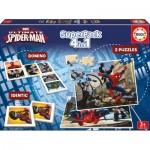 2 Puzzles + Domino + Identic - Spider-Man