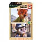 2 Wooden Jigsaw Puzzles - Zootropolis