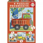 4 Jigsaw Puzzles - Rescue Patrol