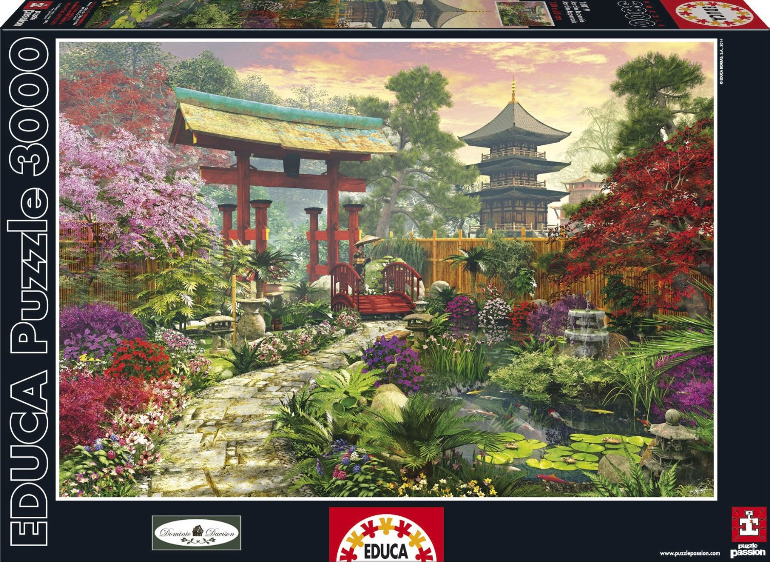 puzzle japanese garden educa 16019 3000 pieces jigsaw puzzles forests flowers and gardens. Black Bedroom Furniture Sets. Home Design Ideas