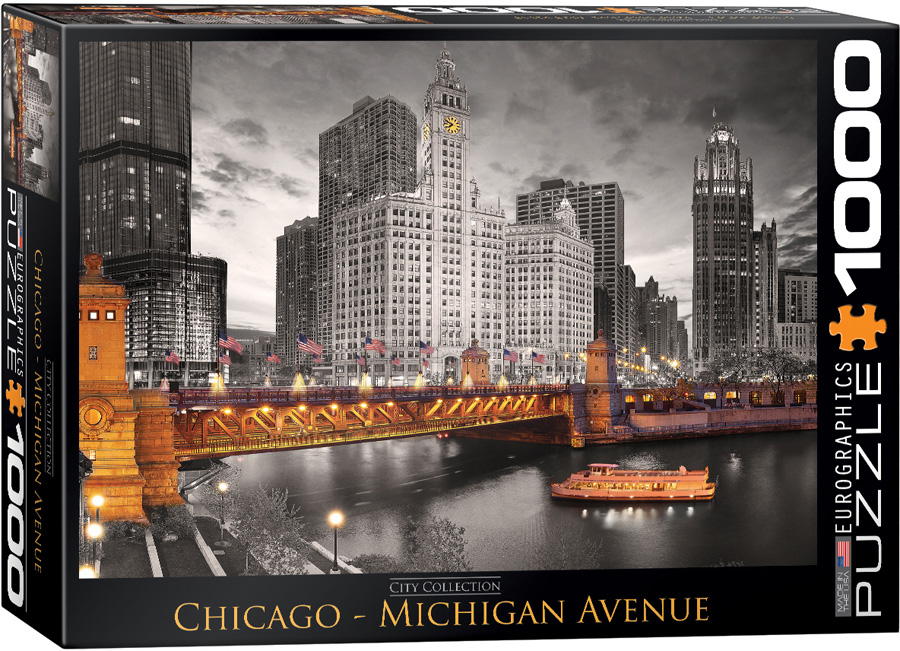 Chicago - Michigan Avenue 1000 piece jigsaw puzzle
