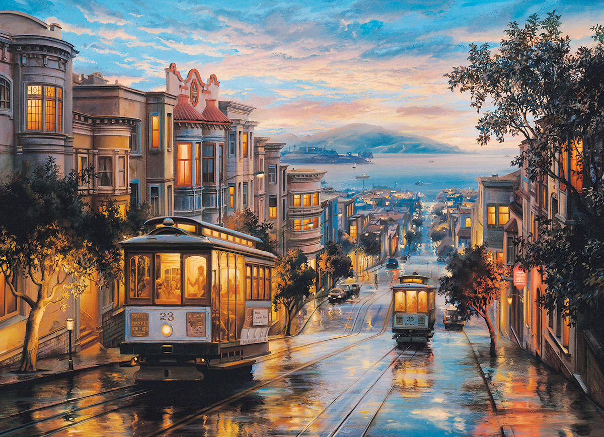 Puzzle Eugene Lushpin San Francisco Cable Car Heaven