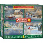 4 Jigsaw Puzzles - Sam Timm: Holiday Deluxe Puzzle Set