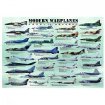 Eurographics-6000-0076 Jigsaw Puzzle - 1000 Pieces - Modern Warplanes