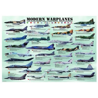 Eurographics-6000-0076 Jigsaw Puzzle - 1000 Pieces - Modern Warplanes