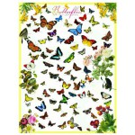 Eurographics-6000-0077 Jigsaw Puzzle - 1000 Pieces - Butterflies