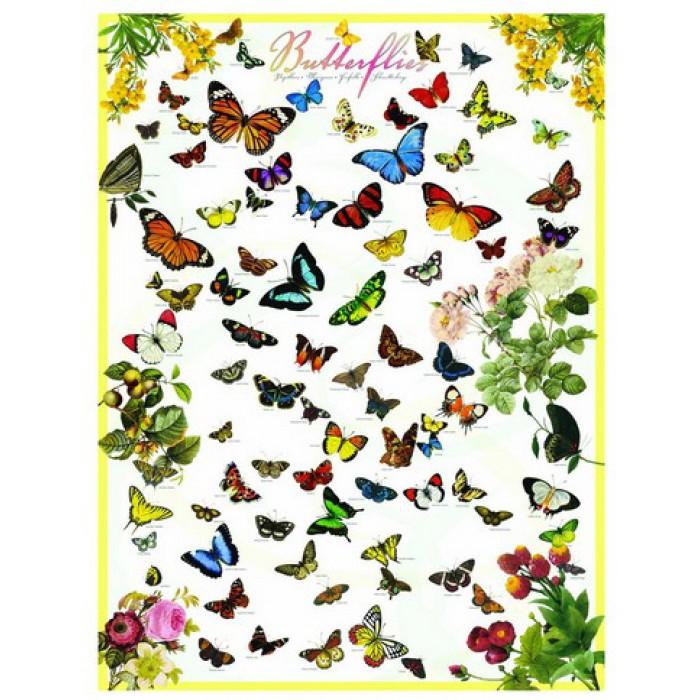 Jigsaw Puzzle - 1000 Pieces - Butterflies