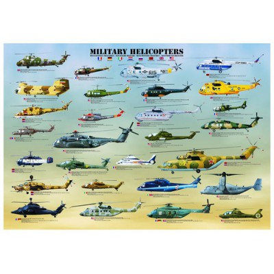 Puzzle Eurographics-6000-0088 Military Helicopters