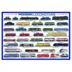 Eurographics-6000-0091 Jigsaw Puzzle - 1000 Pieces - Modern Locomotives
