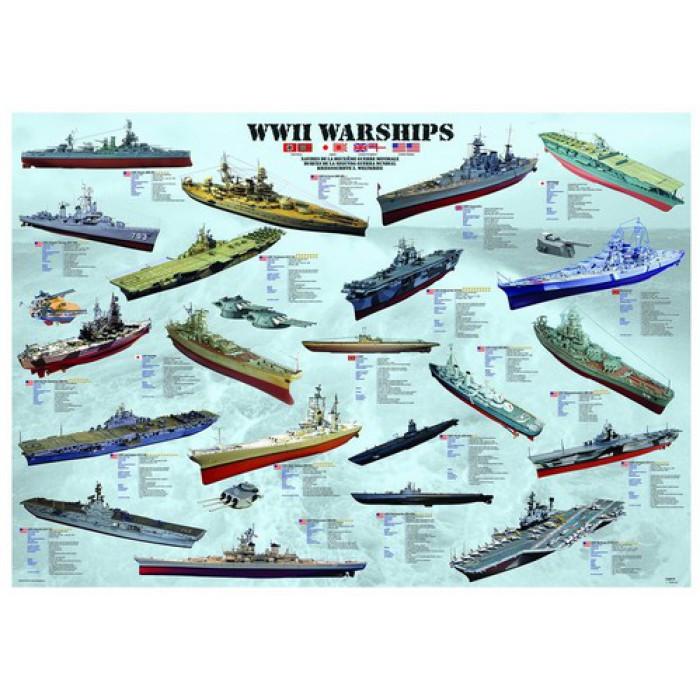 Jigsaw Puzzle - 1000 Pieces - World War II Warships