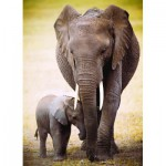 Puzzle  Eurographics-6000-0270 The Elephant and baby elephant
