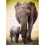 Puzzle  Eurographics-6000-0270 The Elephant and baby elephant