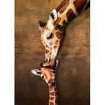 Puzzle  Eurographics-6000-0301 The mother Giraffe and its girafon