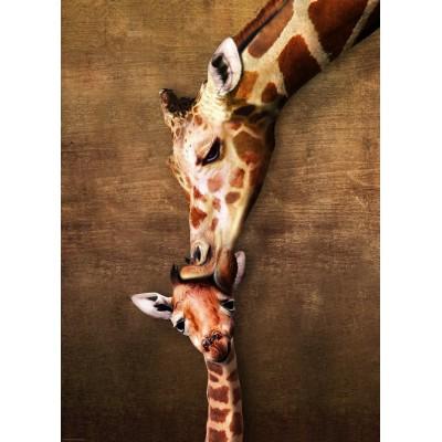Puzzle Eurographics-6000-0301 The mother Giraffe and its girafon