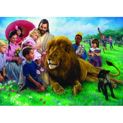 Puzzle Eurographics-6000-0345 Nathan Greene : The Lion and Lamb