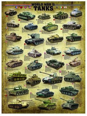 Puzzle Eurographics-6000-0388 World War II Tanks