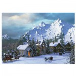 Puzzle  Eurographics-6000-0426 Dominic Davison: Christmas At Rocky Mountains