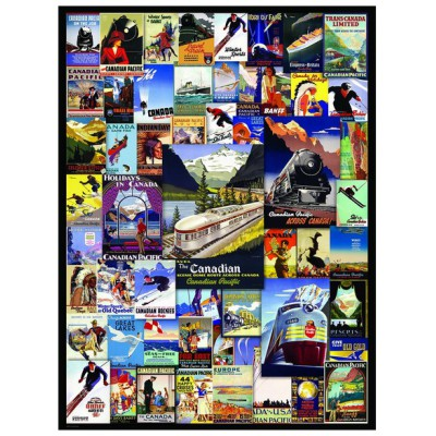 Puzzle Eurographics-6000-0648 Canadian Pacific Rail - Poster Vintage
