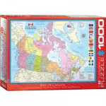Puzzle  Eurographics-6000-0781 Map of Canada