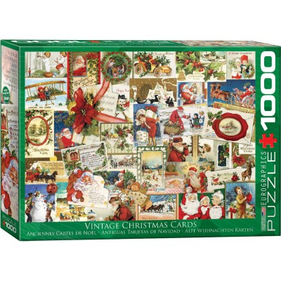 Puzzle Eurographics-6000-0784 Vintage Christmas Cards