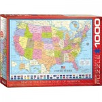 Puzzle  Eurographics-6000-0788 Map of the US