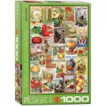 Puzzle  Eurographics-6000-0817 Vegetables Seed Catalogue