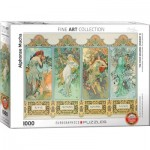Puzzle  Eurographics-6000-0824 Mucha Alfons: Four Seasons
