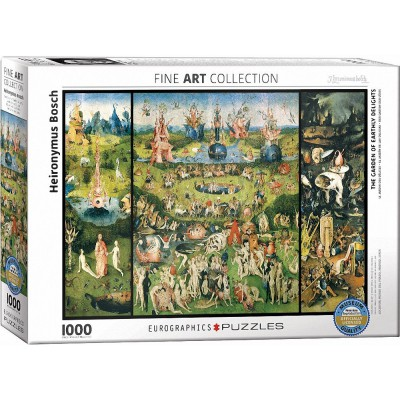 Puzzle Eurographics-6000-0830 Heironymus Bosch - The Garden of Earthly Delights
