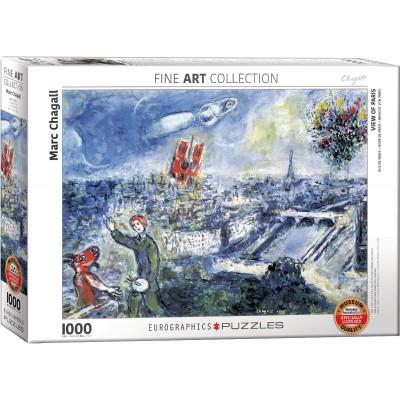 Puzzle Eurographics-6000-0850 Chagall Marc - Le Bouquet de Paris