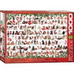 Puzzle  Eurographics-6000-0939 Holiday Dogs