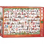 Puzzle  Eurographics-6000-0940 Holiday Cats