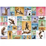 Puzzle  Eurographics-6000-0953 Yoga Cats