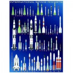 Eurographics-6000-1015 Jigsaw Puzzle - 1000 Pieces - International Space Rockets