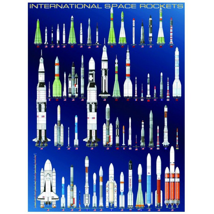 Jigsaw Puzzle - 1000 Pieces - International Space Rockets