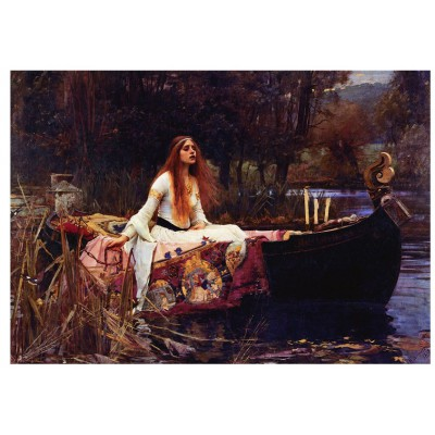 Eurographics-6000-1133 Jigsaw Puzzle - 1000 Pieces - Waterhouse : The Lady of Shalott, 1888