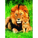 Puzzle  Eurographics-6000-1148 The lion and his young lion
