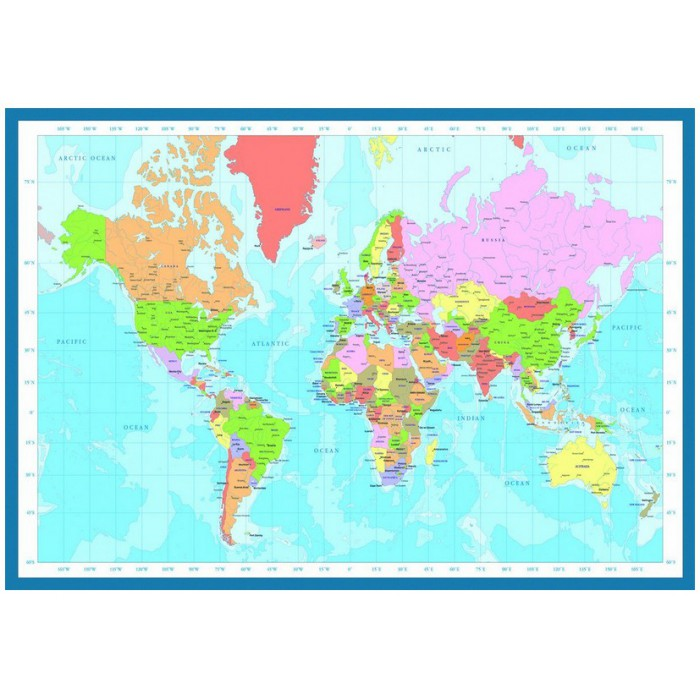 Jigsaw Puzzle - 1000 Pieces - World Map