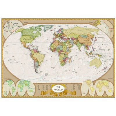 Eurographics-6000-1272 Jigsaw Puzzle - 1000 Pieces - Modern World Map