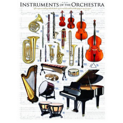 Eurographics-6000-1410 Jigsaw Puzzle - 1000 Pieces - Instruments of the Orchestra
