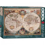 Puzzle  Eurographics-6000-1997 Antique World Map