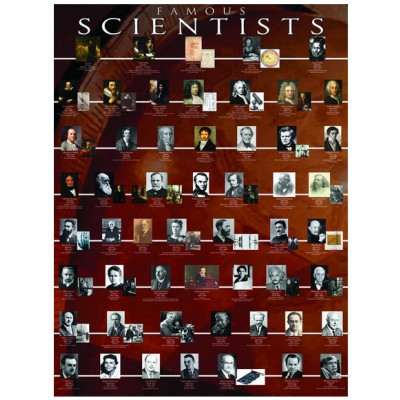 Eurographics-6000-2000 Jigsaw Puzzle - 1000 Pieces - Famous Scientists