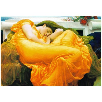 Eurographics-6000-3214 Jigsaw Puzzle - 1000 Pieces - Frederick Lord Leighton : Flaming June