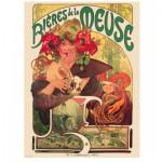Puzzle  Eurographics-6000-3455 Alphonse Mucha: Bieres de la Meuse