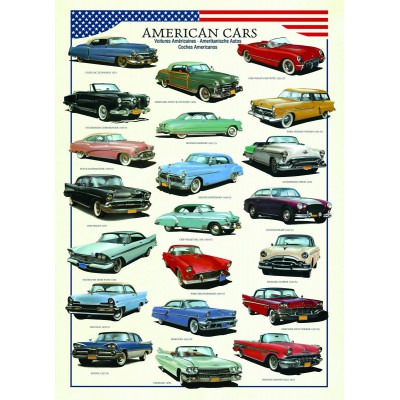 Puzzle Eurographics-6000-3870 Ameican cars